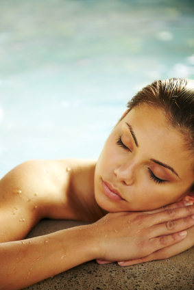 Image of Spray Tanned Girl At theSanctuary Spa