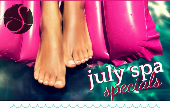 image of July spa specials