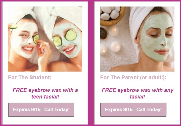 Back To School Spa Coupons