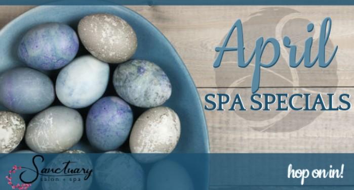 image of April spa specials
