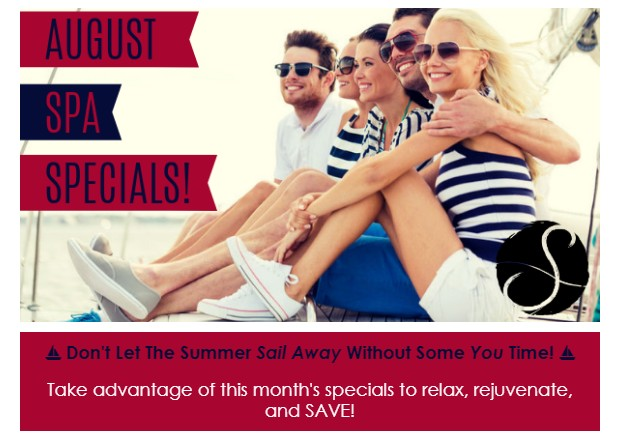image of August spa specials