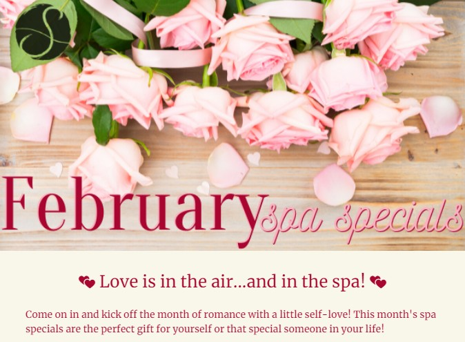 image of February spa specials