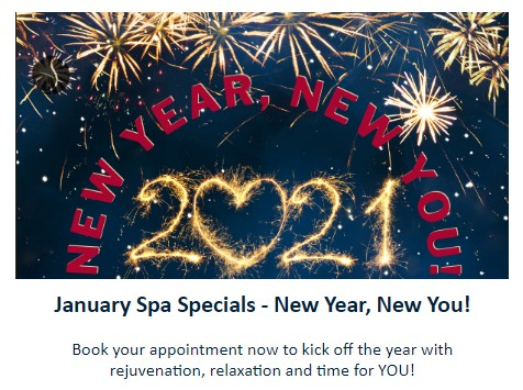 image of January spa specials